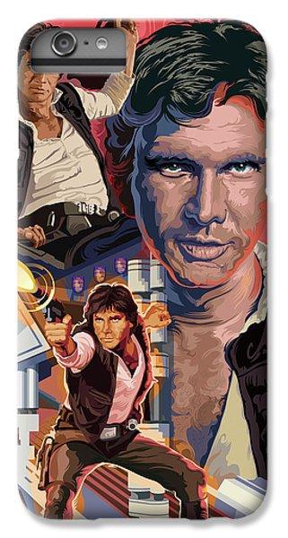 Han Solo iPhone 6 Plus Case - Star Wars Han Solo On Tatooine by Garth Glazier