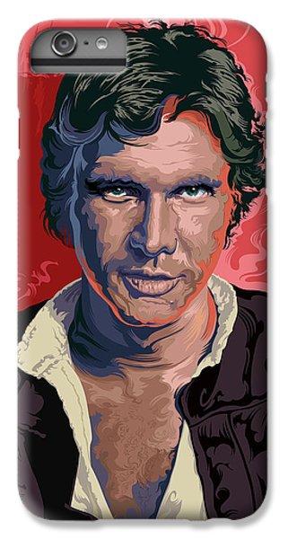 Han Solo iPhone 6 Plus Case - Star Wars Han Solo Pop Art Portrait by Garth Glazier