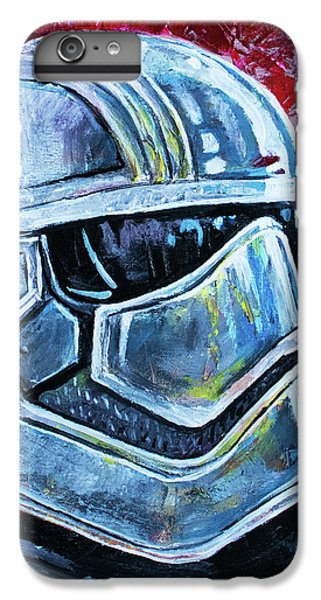 IPhone 6 Plus Case featuring the painting Star Wars Helmet Series - Captain Phasma by Aaron Spong