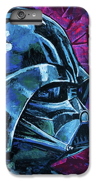 IPhone 6 Plus Case featuring the painting Star Wars Helmet Series - Darth Vader by Aaron Spong