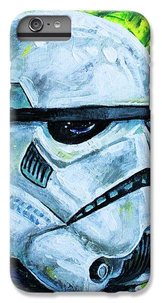 IPhone 6 Plus Case featuring the painting Star Wars Helmet Series - Storm Trooper by Aaron Spong