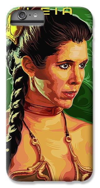 Han Solo iPhone 6 Plus Case - Star Wars Princess Leia Pop Art Portrait by Garth Glazier