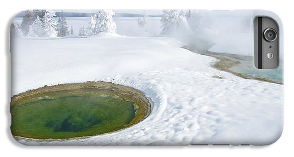 IPhone 6 Plus Case featuring the photograph Steam And Snow by Gary Lengyel