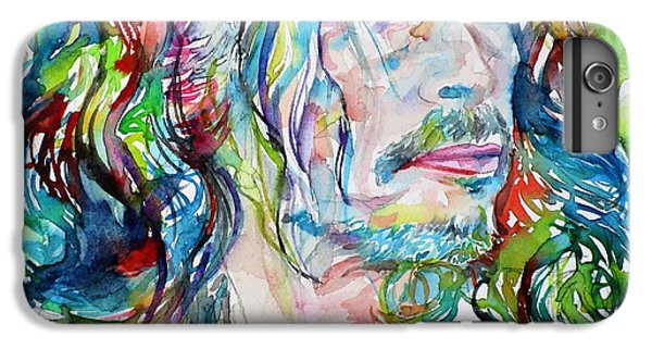 Steven Tyler - Watercolor Portrait IPhone 6 Plus Case