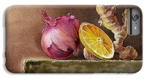 Still Life With Onion Lemon And Ginger IPhone 6 Plus Case by Irina Sztukowski