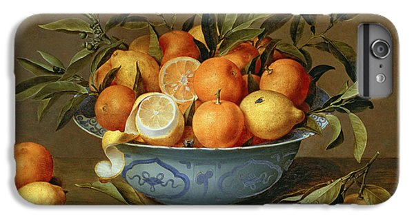 Still Life With Oranges And Lemons In A Wan-li Porcelain Dish  IPhone 6 Plus Case by Jacob van Hulsdonck