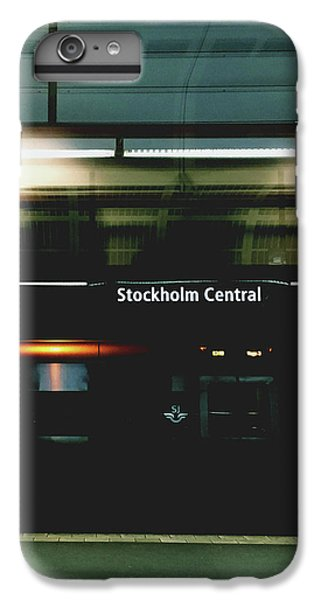 Train iPhone 6 Plus Case - Stockholm Central- Photograph By Linda Woods by Linda Woods