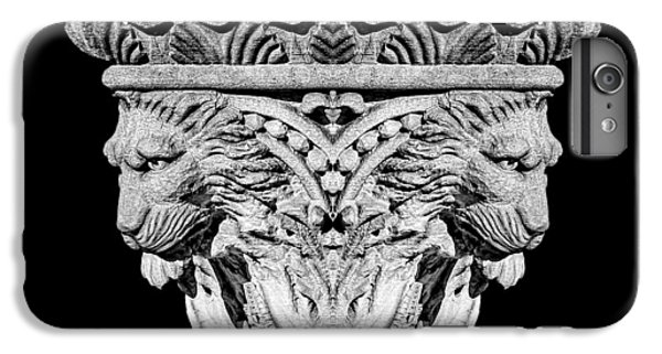 Lion Head iPhone 6 Plus Case - Stone Lion Column Detail by Tom Mc Nemar