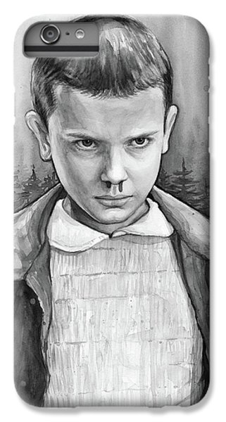 Science Fiction iPhone 6 Plus Case - Stranger Things Fan Art Eleven by Olga Shvartsur