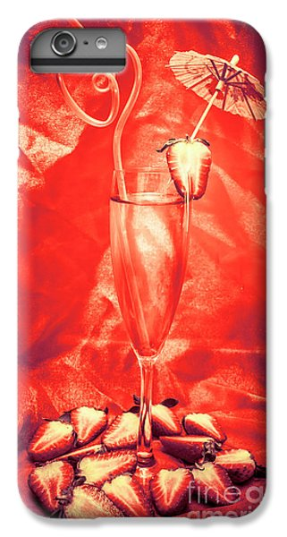 Strawberry iPhone 6 Plus Case - Straweberry Tropical Cocktail Drink by Jorgo Photography - Wall Art Gallery