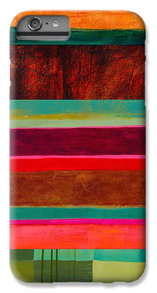 Stripe Assemblage 1 IPhone 6 Plus Case by Jane Davies