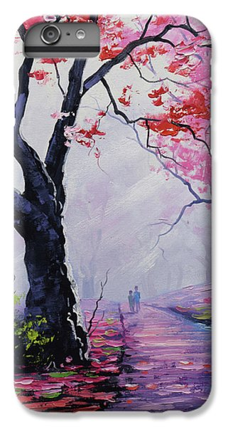 Salmon iPhone 6 Plus Case - Stroll In The Mist by Graham Gercken