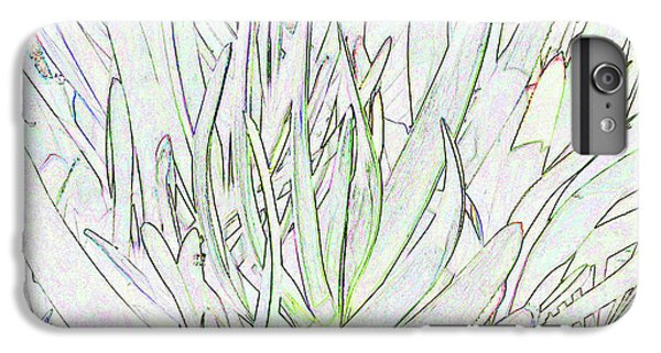 Succulent Leaves In High Key IPhone 6 Plus Case by Nareeta Martin