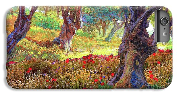 Tranquil Grove Of Poppies And Olive Trees IPhone 6 Plus Case by Jane Small