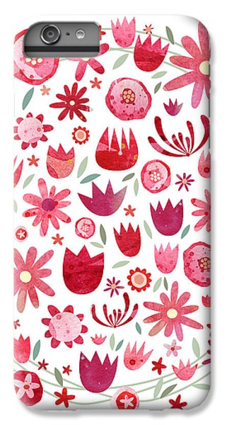 Summer Flower Circle IPhone 6 Plus Case by Nic Squirrell