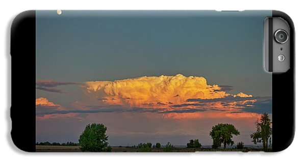 IPhone 6 Plus Case featuring the photograph Summer Night Storms Brewing And Moon Above by James BO Insogna