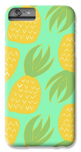 Summer Pineapples IPhone 6 Plus Case by Allyson Johnson