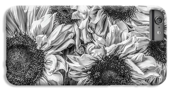 Sunflower Line Drawing : Black and white sunflower iphone 6 plus cases fine art america