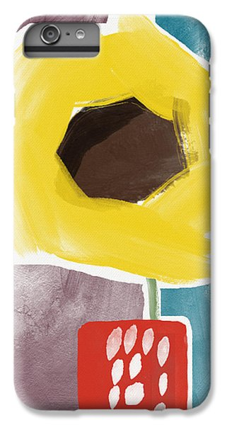 Sunflower iPhone 6 Plus Case - Sunflower In A Small Vase- Art By Linda Woods by Linda Woods