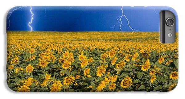Sunflower iPhone 6 Plus Case - Sunflower Lightning Field  by James BO Insogna