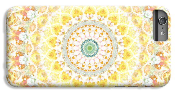 Sunflower iPhone 6 Plus Case - Sunflower Mandala- Abstract Art By Linda Woods by Linda Woods