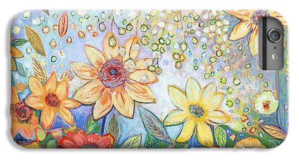Sunflower iPhone 6 Plus Case - Sunflower Tropics by Jennifer Lommers