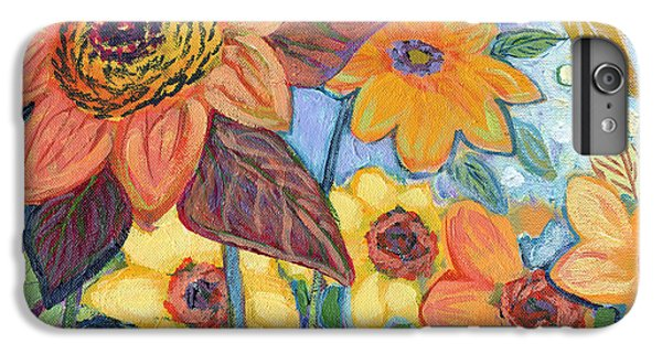 Sunflower iPhone 6 Plus Case - Sunflower Tropics Part 1 by Jennifer Lommers