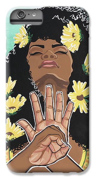 Sunflower iPhone 6 Plus Case - Sunflowers And Dashiki by Alisha Lewis