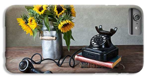Sunflower iPhone 6 Plus Case - Sunflowers And Phone by Nailia Schwarz