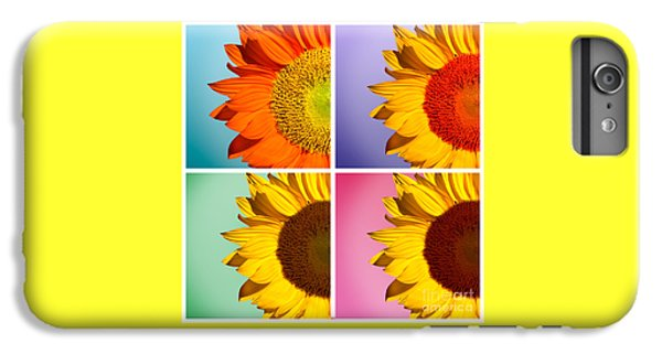 Sunflower iPhone 6 Plus Case - Sunflowers Collage by Mark Ashkenazi