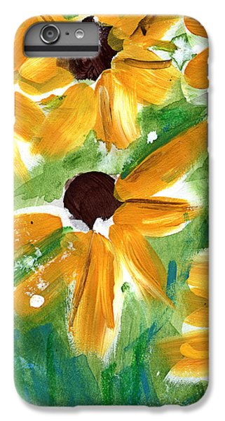 Sunflower iPhone 6 Plus Case - Sunflowers by Linda Woods