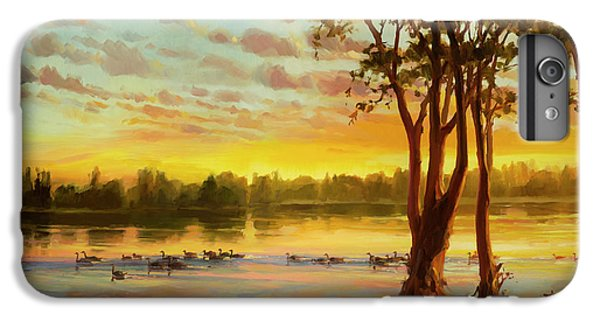 Geese iPhone 6 Plus Case - Sunrise On The Columbia by Steve Henderson