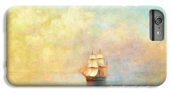 Boat iPhone 6 Plus Case - Sunrise On The Sea by Georgiana Romanovna