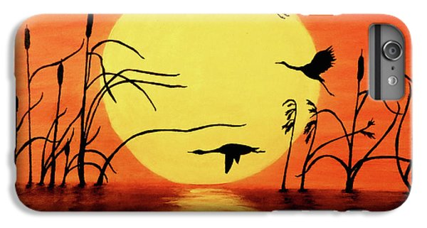 Goose iPhone 6 Plus Case - Sunset Geese by Teresa Wing