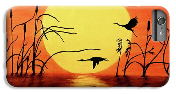 Sunset Geese IPhone 6 Plus Case by Teresa Wing