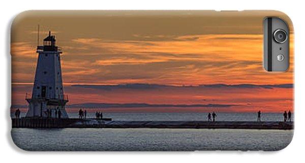Marquette iPhone 6 Plus Case - Sunset Over Ludington Panoramic by Adam Romanowicz