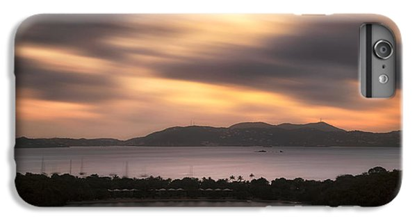 IPhone 6 Plus Case featuring the photograph Sunset Over St. John And St. Thomas Panoramic by Adam Romanowicz