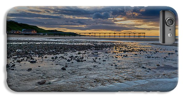 Sunset With Saltburn Pier IPhone 6 Plus Case by Gary Eason
