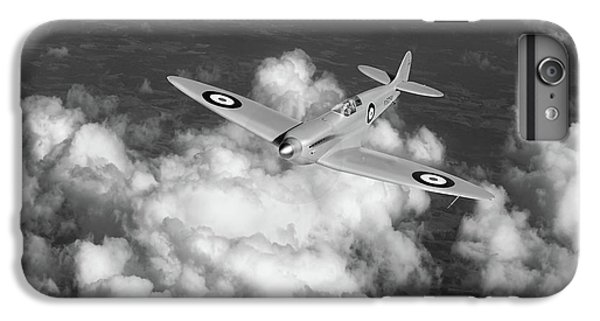 IPhone 6 Plus Case featuring the photograph Supermarine Spitfire Prototype K5054 Black And White Version by Gary Eason