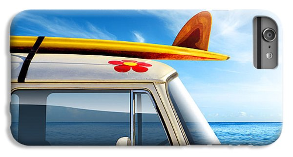 Flowers iPhone 6 Plus Case - Surf Van by Carlos Caetano