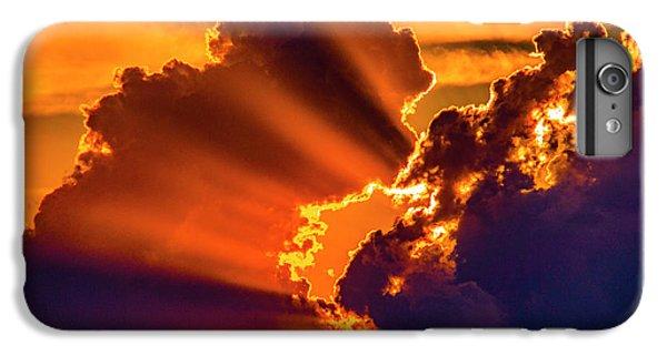 Nebraskasc iPhone 6 Plus Case - Sweet Nebraska Crepuscular Rays 010 by NebraskaSC