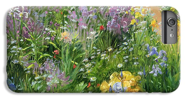 Garden Snake iPhone 6 Plus Case - Sweet Rocket - Foxgloves And Irises by Timothy Easton