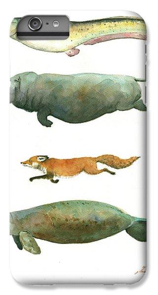 Catfish iPhone 6 Plus Case - Swimming Animals by Juan Bosco