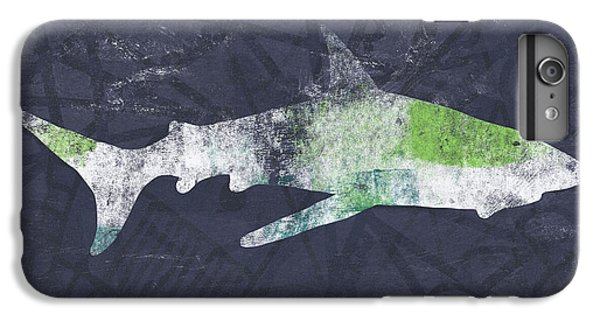 Sharks iPhone 6 Plus Case - Swimming With Sharks 3- Art By Linda Woods by Linda Woods