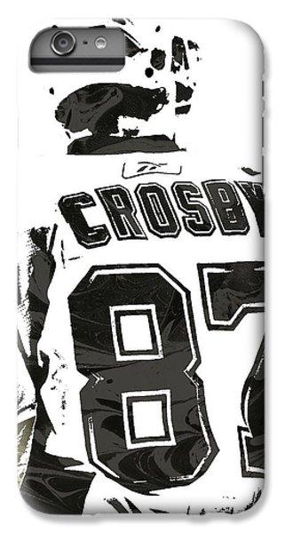 Penguin iPhone 6 Plus Case - Sydney Crosby Pittsburgh Penguins Pixel Art 2 by Joe Hamilton