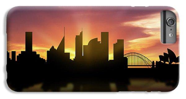 Sydney Skyline Sunset Ausy22 IPhone 6 Plus Case by Aged Pixel