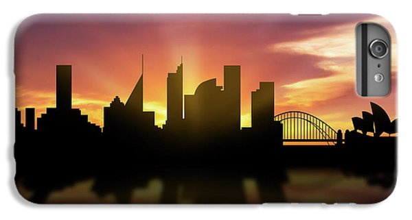 Sydney Skyline Sunset Ausy22 IPhone 6 Plus Case by Aged Pixel
