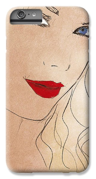 Taylor Red Lips IPhone 6 Plus Case by Pablo Franchi