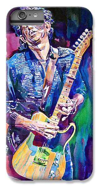 Music iPhone 6 Plus Case - Telecaster- Keith Richards by David Lloyd Glover