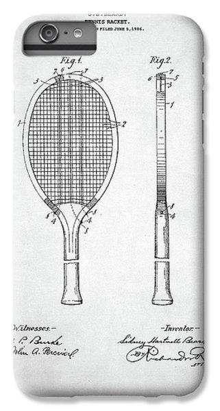 Serena Williams iPhone 6 Plus Case - Tennis Racket Patent 1907 by Taylan Apukovska
